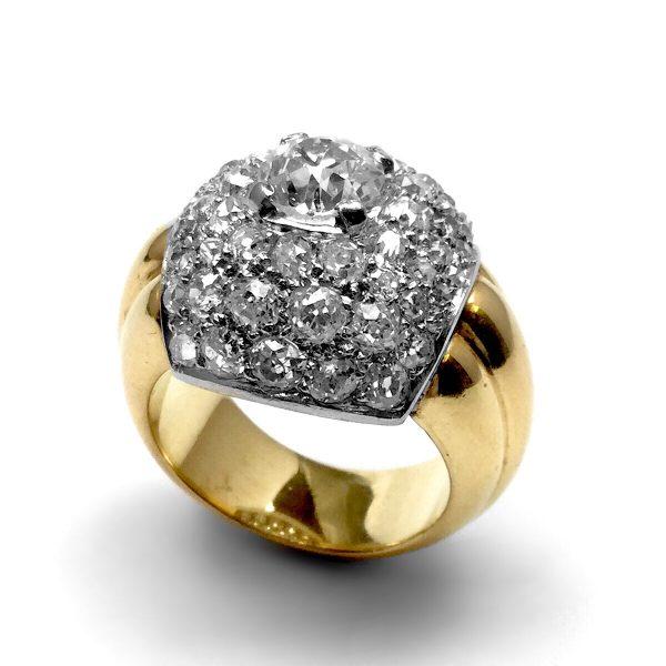 Art Déco Diamant Ring Frankreich um 1930