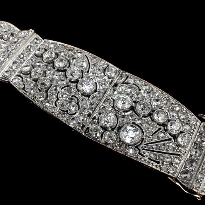 Art Déco Diamant Armband Frankreich um 1920